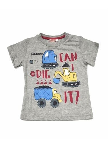 Zeyland Zeyland T-Shirt Gri Melanj Traktör Gri